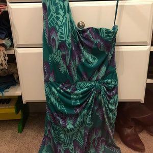 Gianni Bini Tropical One Shoulder Dress